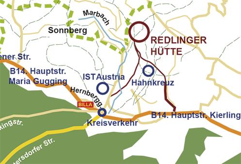 Lageplan Redlingerhütte